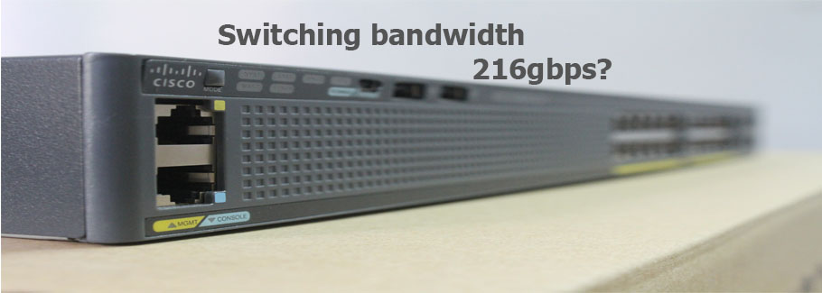 switching bandwidth 216gbps